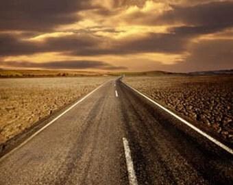 Desert Road Photography Backdrop