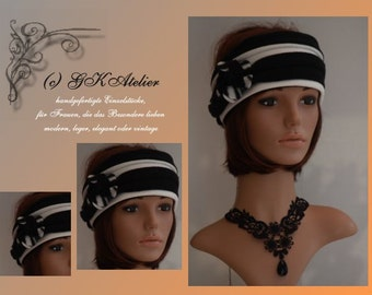 Fleece Headband white_black