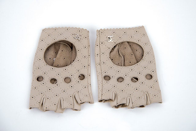 Vintage Chanel Fingerless Gloves by CJTours on Etsy
