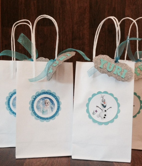 items similar to frozen theme goodie bags on etsy