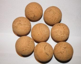 "10 Natural cork balls 2"""
