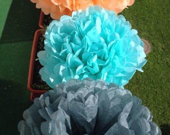 12 Tissue Paper Pom Pom Bridal Shower Decor Tissue Pom Pom Paper Flowers Tissue Pom Poms Tissue Paper Flowers Pompom Wedding Decoration