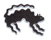 """Black Wavy Cat Iron-On Patch 4""""x3.5"""" limited edition"""