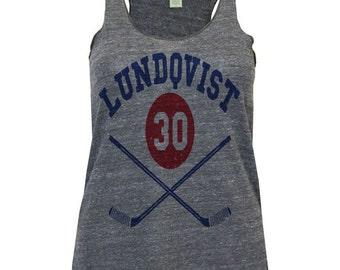 Henrik Lundqvist NHLPA Officially Licensed New York Tank Top S-XL Shirts Henrik Lundqvist Sticks B