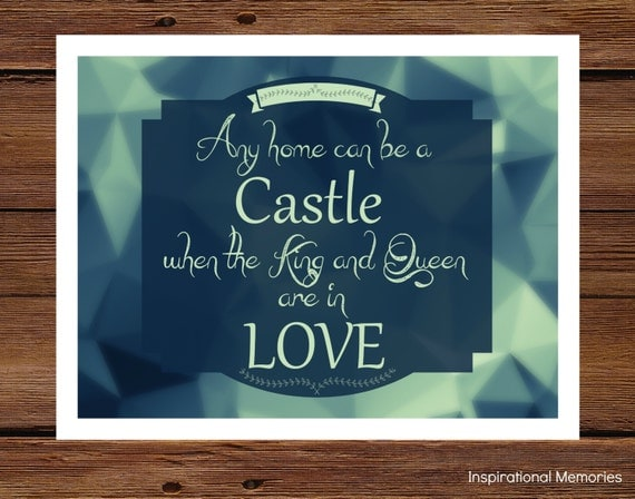 "Items Similar To Romantic Quote Print Framed ""Any Home Can"