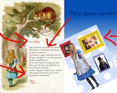 "Magic Pack ""Alice in Wonderland"": Customized letter+ picture with Alice in wonderland  in your mailbox -  Free shipping"