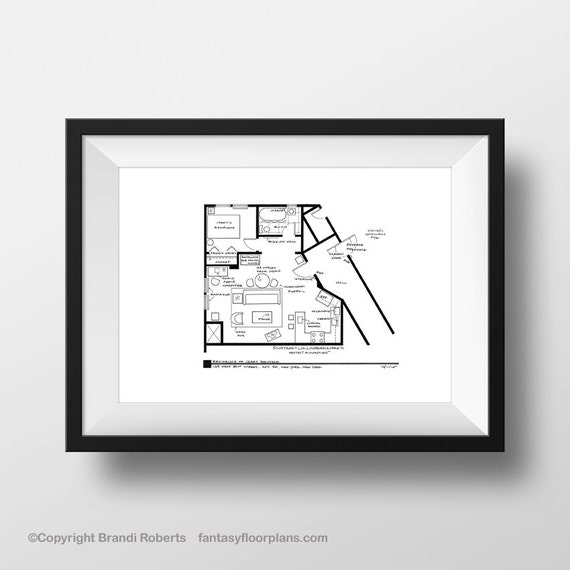 Seinfeld Apartment Layout Tv Show Floor Plan By Tvfloorplans