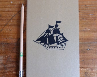 Plain, Medium, Moleskine Notebook, Pirate Ship