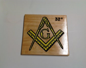 Mason Compass & Square Plaque
