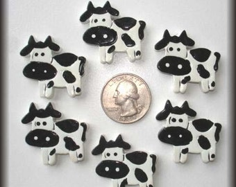 2 Piece Set MOO COW Hairbow Centers - Oh My Gosh Goodies Resins