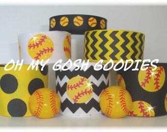 Red Lion Softball Ribbon Ponytail Streamers - Baseball Equipment ...