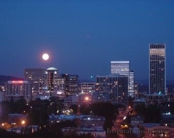 Portland Full Moon  8 x 10