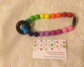 Chompy DeluxeRainbow Ring or Star Babywearing Silicone Teething Accessory