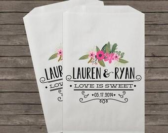 Wedding Favor Bags, Candy Buffet Bags, Rustic Wedding, Favor Bags, Personalized Wedding Favor Bags, Treat Bags, Custom Favor Bags, Kraft 039