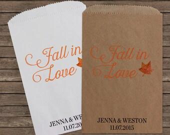 Wedding Favors, Favor Bags, Candy Bar Buffet Bags, Rustic Wedding, Bridal Shower, Fall, Popcorn Bags, Custom Wedding Favors, Candy Kraft 108