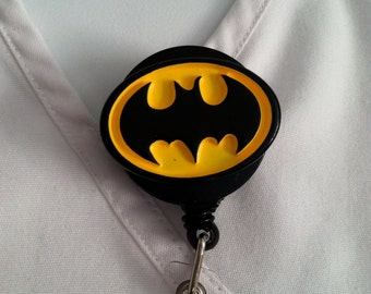 Batman™ DC comic® ID Holder Customized ~ Retractable Badge Reel ~ Slide Belt Clip ~ Alligator Clip~ Great Gifts Nurses Doctors Teachers RN
