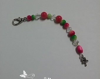 Pink and Lime Green Scissor FOB & Key Chain