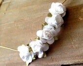 Mini Floral Flower Halo: White