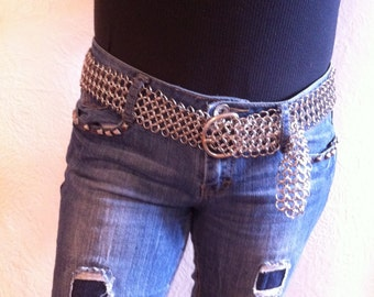 Chainmail Belt Hand Made in the USA.
