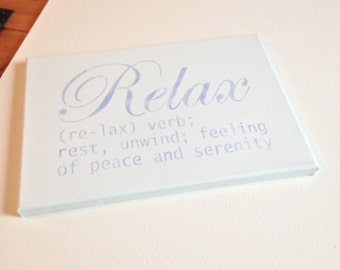 "Relax 10""x14' wall canvas"