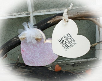 Girl Baby Shower - Guest book alternative and wishing tree tags all in one-Advice for the Mommy  - Ivory tags-Pink Covers