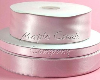 5/8 inch x 100 yards of Light Pink Double Face Satin Ribbon