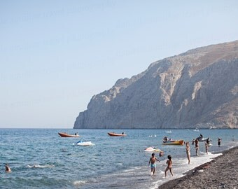 Kamari Beach Greece, Santorini Island Landscape, Santorini Greece Photo, Greece Travel Photography, 8x10 Photo, Art Decor