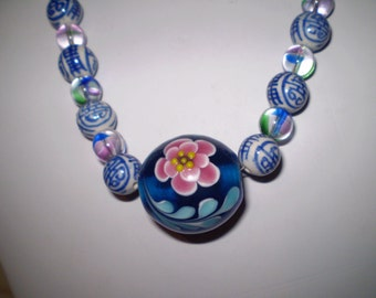 This Necklace Is Made Of Italian Murano Glass Often Known As