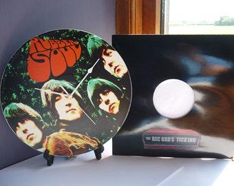 Rubber Soul - The Beatles -  12″ LP Vinyl Record Wall Clock
