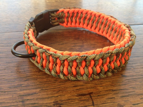 Paracord Dog Collar Tree Stand Camo Blaze Orange By
