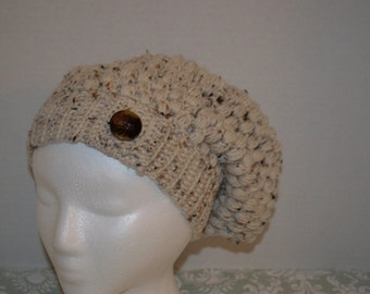 Crochet Puff Slouchy Beanie FREE SHIPPING in USA