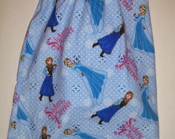 Girls Queen Elsa Princess Anna Frozen Boutique Slumber Birthday Party Princess Flannel Pajamas Nightgown! Sizes 2 ,3, 4, 5, 6, 7, 8