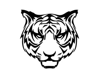 Tribal Tiger v2 Custom Die Cut Vinyl Decal Sticker - Choose your Color and Size
