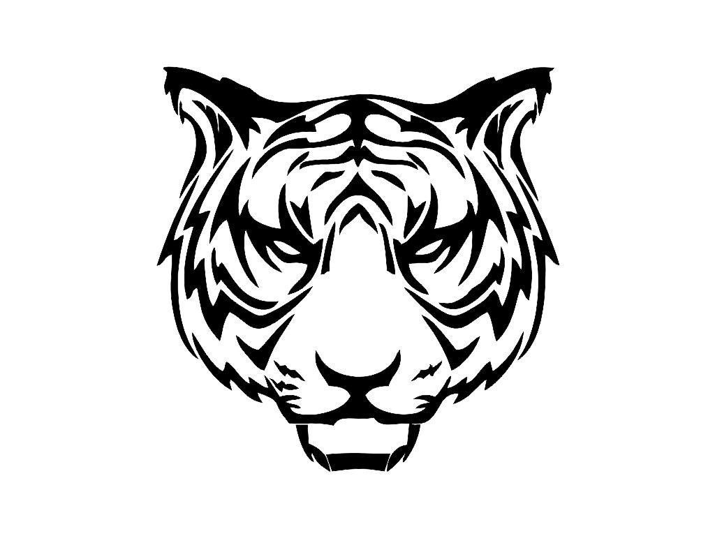 Tribal Tiger V2 Custom Die Cut Vinyl Decal Sticker Choose