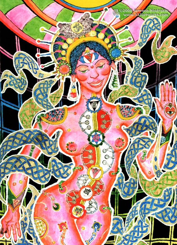 Arts Goa Goa Trance Art Postcard