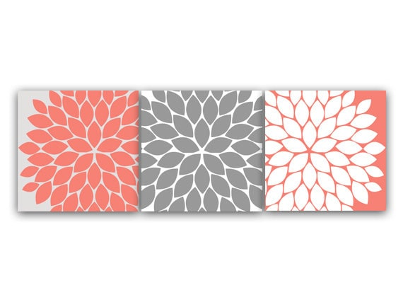 Home Decor Wall Art 12x12 Or 8x8 Coral Bedroom Decor Coral