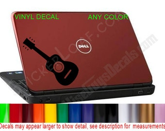 Acoustic Guitar hp dell Apple Laptop Decal Sticker acer macbook mac book laptop skin lap top decals stickers Music Rock Band Fender Gibson