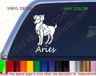 ARIES Zodiac Sign Decal Sticker Astrology Psychic car truck window vinyl wall Laptop Tablet