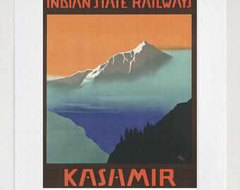 Travel Art Kashmir India Poster Vintage Print Wall Decor (ZT237)