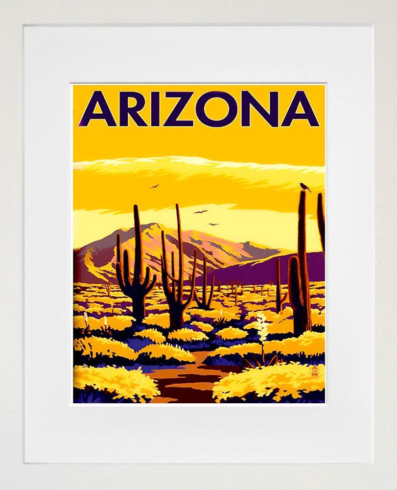 arizona art travel poster america print home decor zt386 home decor inspiration from the sonoran desert