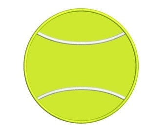 Tennis Ball Applique Machine Embroidery Design Digitized Pattern - 4x4 , 5x7, and 6x10 hoops