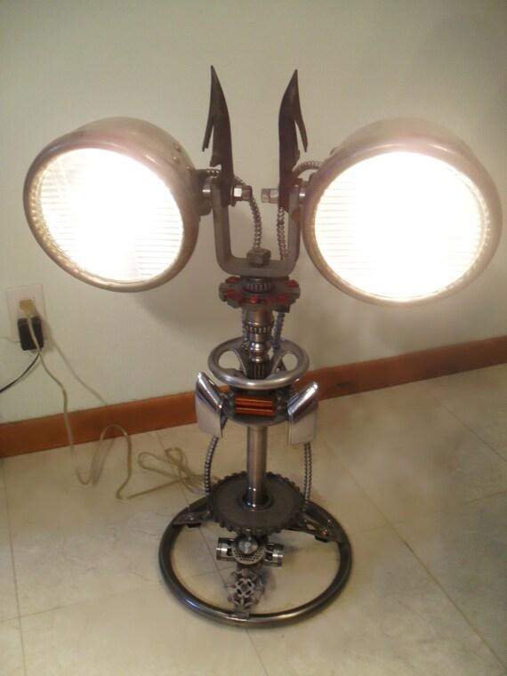 Items Similar To Dual Vintage Headlights Automotive Lamp