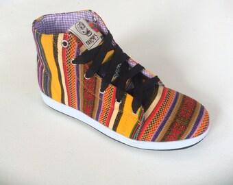 Pancho's Footwear -  Yellow Hi-Top Sneakers