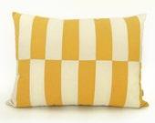 Housse de coussin lit color block pour chat ou petit chien | Moderne et géométrique | Enveloppe de lit en jaune moutarde, crème et beige