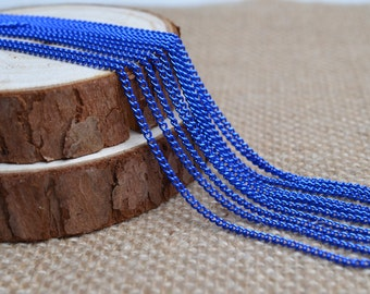 16ft of 2.7x2mm Oval Link Royal Blue Cable Chain,Iron Small Cross Chain,Small Chains,Small Twisted Chains-Unsoldered,Nickel and Lead Free