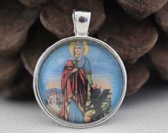 St. Margaret of Antioch Catholic Christian Medal Pendant Patron Saint Religious Jewelry