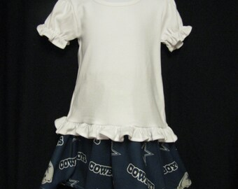 Toddler 3T  Navy and White Skirt