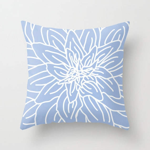 Modern Abstract Pillow : Modern Abstract Spring Flower pillow with insert Cover