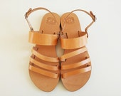 Leather Sandals Open Toe Leather Sandals  Handmade Greek Sandals Women Sandal