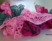 Pink gray Sashay Scarf, Pink Gray Ruffle Scarf, Pink Gray Women's Scarf, Pink Gray Scarf, Women's Fashion Scarf, Teen Girl Scarf